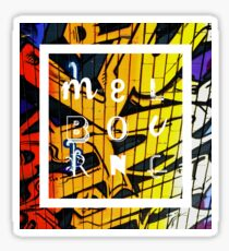 Melbourne Graffiti - Red and Gold Sticker