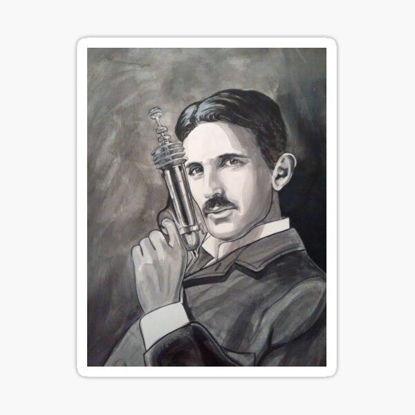 Nikola Tesla raygun Sticker