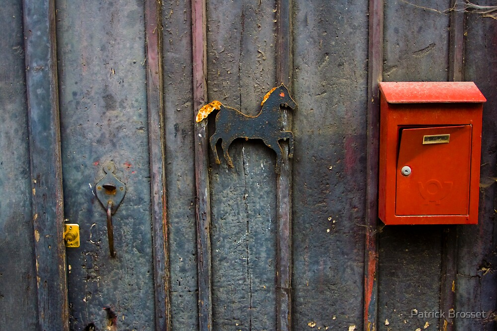 the horse and the mailbox by Patrick Brosset