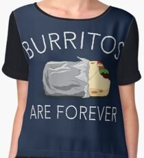 Burritos Are Forever Chiffon Top