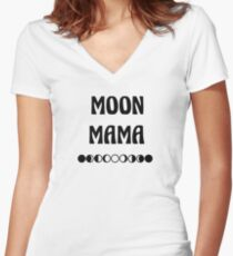Moon Mama Tee Women's Fitted V-Neck T-Shirt