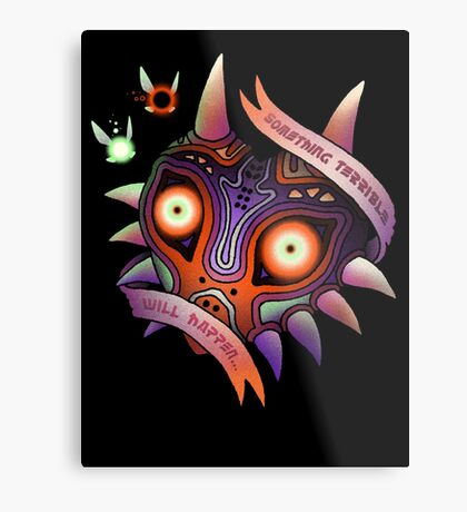 TERRIBLE MASK Metal Print