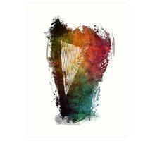 Harp colored instrumental music Art Print