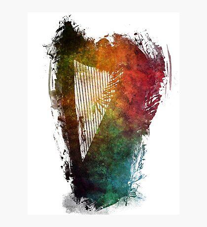 Harp colored instrumental music Photographic Print