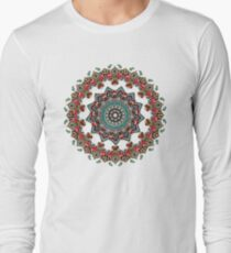 Mandala Weihnachtspug Langarmshirt