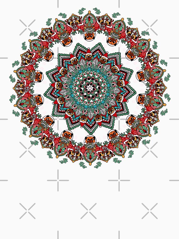 Mandala Weihnachtspug von Huebucket