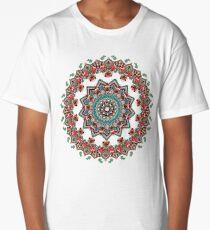 Mandala Christmas Pug Long T-Shirt