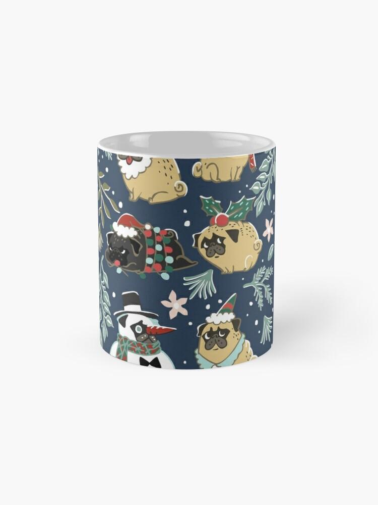 Alternative Ansicht von Weihnachtspugs Tassen