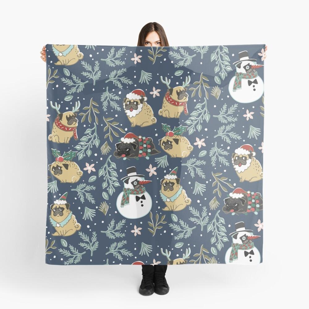 Weihnachtspugs Tuch