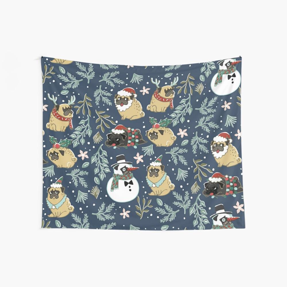 Weihnachtspugs Wandbehang