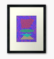 Piled Stones Framed Print