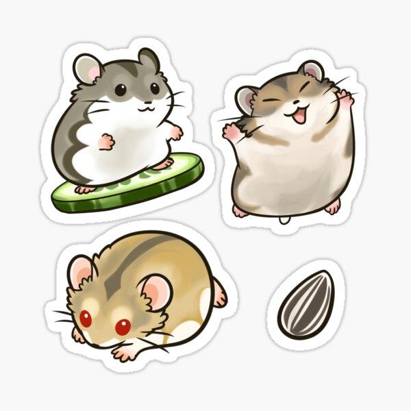 Dwarf Hamsters set 2 Pegatina