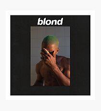 Frank Ocean Blond (Black) Photographic Print