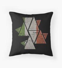 Triangle Distorted Irish Flag  Floor Pillow