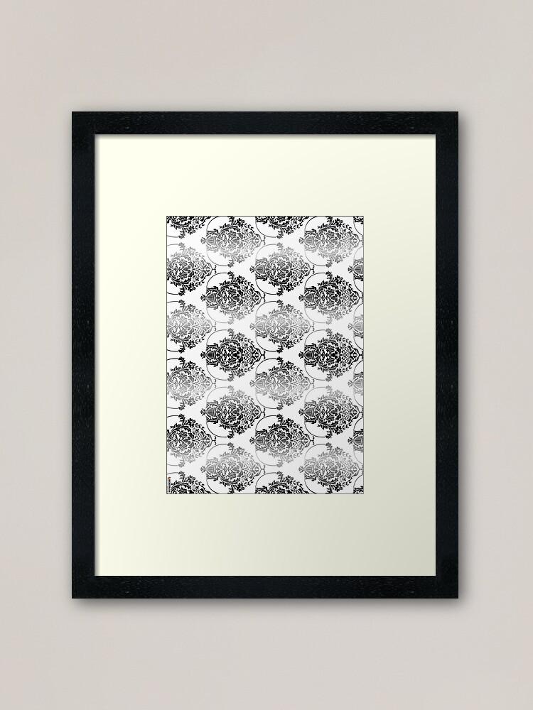 Alternate view of pattern, design, tracery, weave, ornament, decor, garniture, lace, узор, плетение, орнамент, декор, гарнитура, кружева Framed Art Print