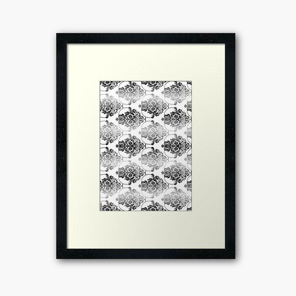 pattern, design, tracery, weave, ornament, decor, garniture, lace, узор, плетение, орнамент, декор, гарнитура, кружева Framed Art Print