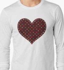 Colorful  Heart Long Sleeve T-Shirt