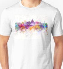 Rzeszow skyline in watercolor background Unisex T-Shirt