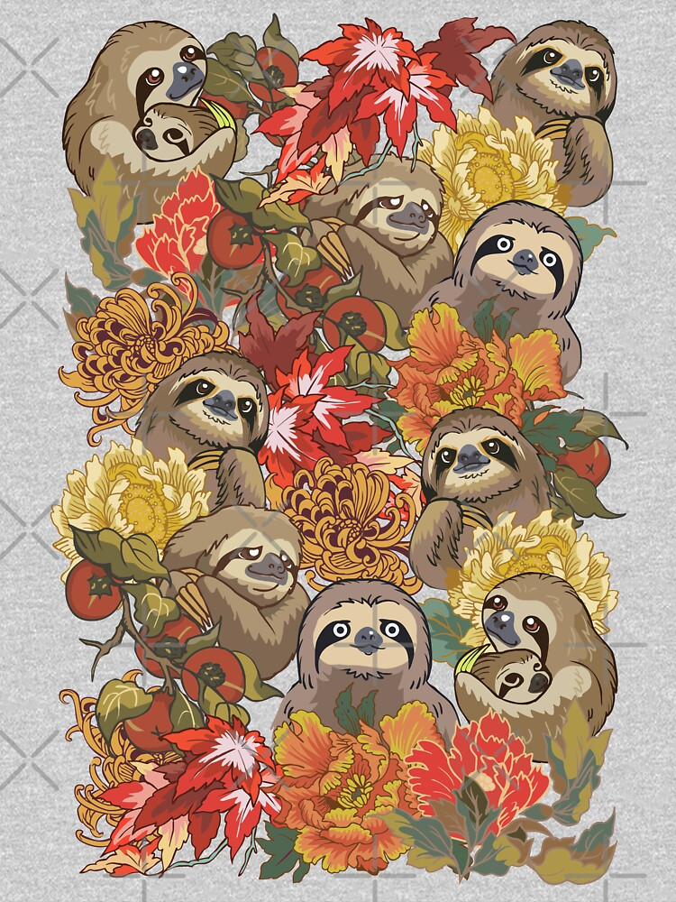 Because Sloths Autumn by Huebucket
