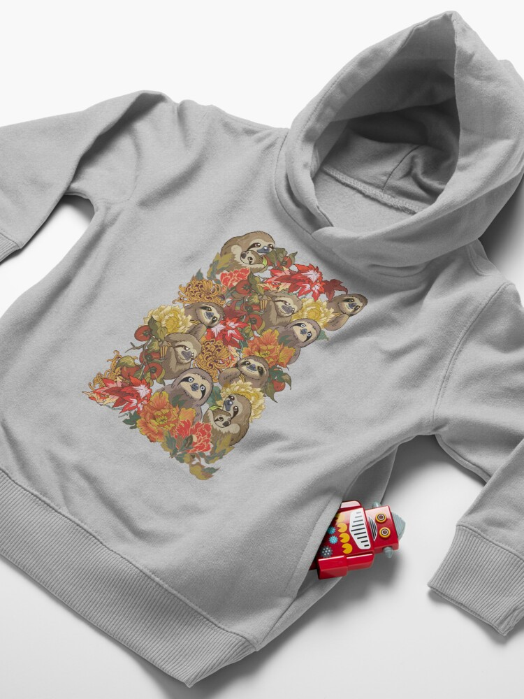 Alternate view of Because Sloths Autumn Toddler Pullover Hoodie