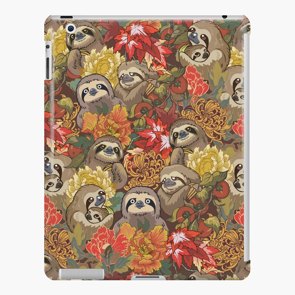 Because Sloths Autumn iPad Case & Skin