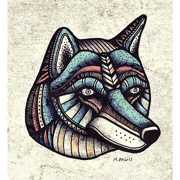 Wolfhead by Mangeshig