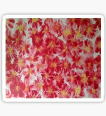 Red Floret Sticker