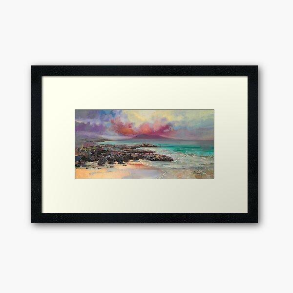 Harris Rocks Framed Art Print
