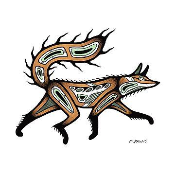 traditional fox by Mangeshig