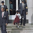 Ruby Bridges, escorted by U.S. Marshals to attend an all-white school, 1960 by Marina Amaral