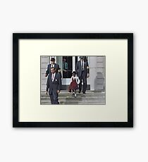 Ruby Bridges, escorted by U.S. Marshals to attend an all-white school, 1960 Framed Print