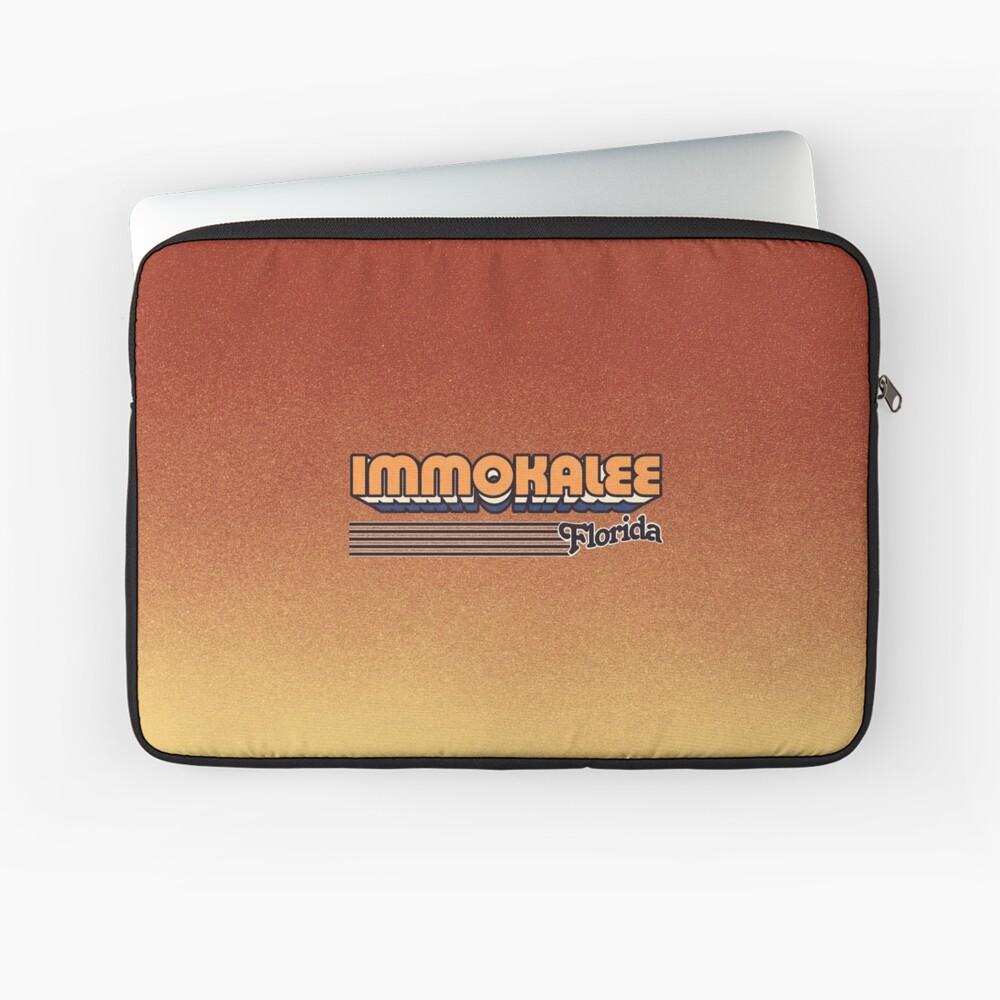 Immokalee, Florida | Retro Stripes Laptop Sleeve