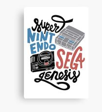 Super Nintendo, Sega Genesis Canvas Print