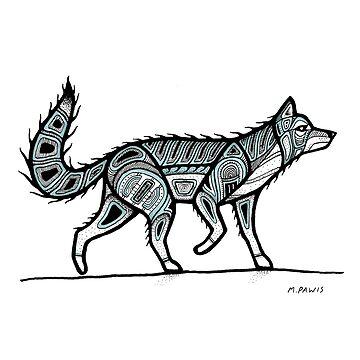 traditional wolf by Mangeshig