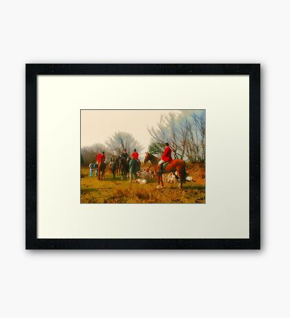 Horse And Hound Framed Print