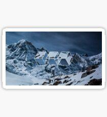 3 squares geometric snowy Sticker