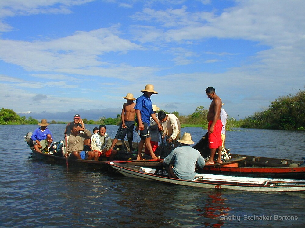 Fishing on the Amazon by Shelby  Stalnaker Bortone