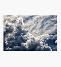 dark dense dramatic thundercloud on summer day Photographic Print