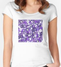 NORTHWESTERN UNIVERSITY COLLAGE Women's Fitted Scoop T-Shirt