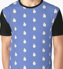Cute White Duck Print and pattern Graphic T-Shirt