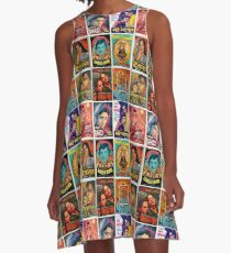 Vintage Bollywood Pattern A-Line Dress