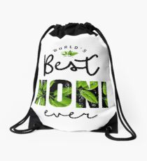 World's Best Noni Ever Drawstring Bag