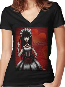 Be my Valentine...Shirt Women's Fitted V-Neck T-Shirt
