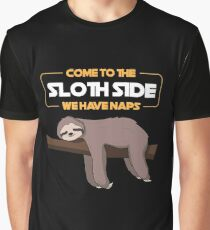 Come To The Sloth Side - Funny Sloth Pun Gift Graphic T-Shirt