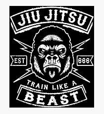 JIU JITSU - TRAIN LIKE A BEAST Photographic Print