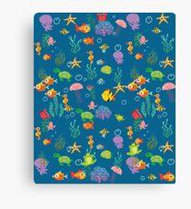 Marine life for kids Canvas Print