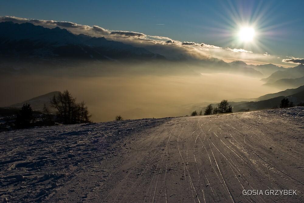 Switzerland – Alpes -Crans -Montana  by GOSIA GRZYBEK