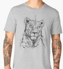 lion sketch drawing psdelux Men's Premium T-Shirt