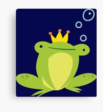Frog king for kids Canvas Print