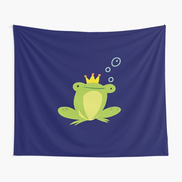 Frog King Tapestries Redbubble